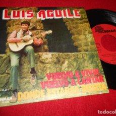 Discos de vinilo: LUIS AGUILE VUELVO A VIVIR, VUELVO A CANTAR/DONDE ESTARAS ROSITA 7'' SINGLE 1971 SHOWMAN. Lote 115719043