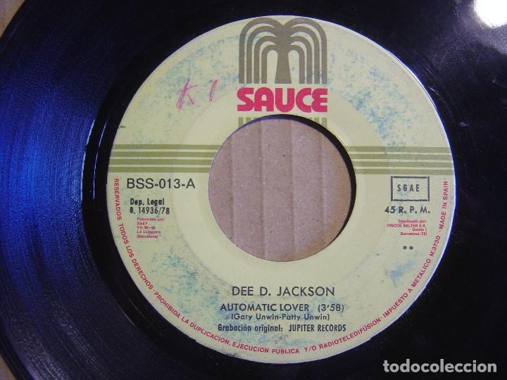 DEE D. JACKSON - AUTOMATIC LOVER + DIDNT THINK YOU DO IT - SINGLE ESPAÑOL 1978 - SAUCE (Música - Discos - Singles Vinilo - Disco y Dance)