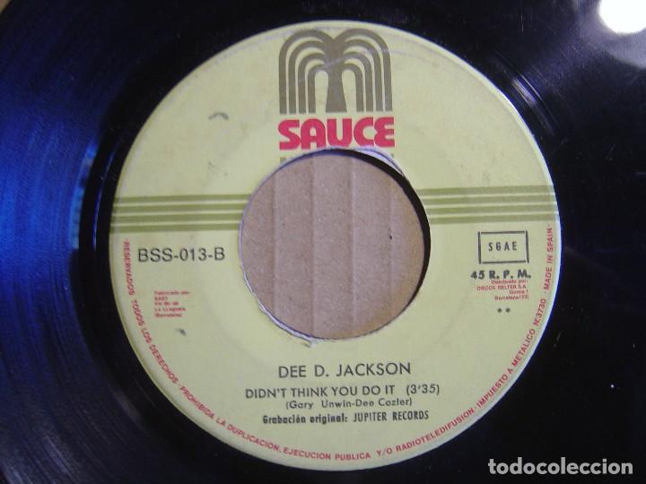 Discos de vinilo: DEE D. JACKSON - Automatic lover + didnt think you do it - SINGLE ESPAÑOL 1978 - SAUCE - Foto 2 - 115720907