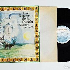 Discos de vinilo: DISCO DE VINILO LP LOS ROMEROS DE LA PUEBLA SIEMPRE AMANECE SEVILLANAS.. Lote 115722507