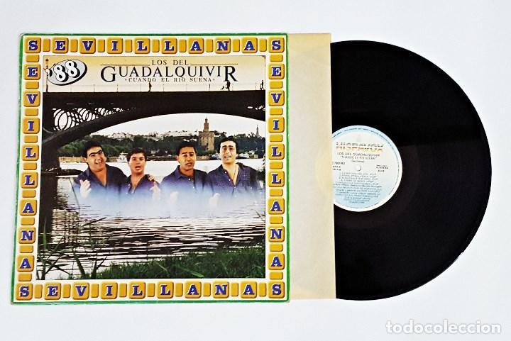 DISCO DE VINILO LP LOS DEL GUADALQUIVIR CUANDO EL RIO SUENA SEVILLANAS. (Música - Discos - LP Vinilo - Flamenco, Canción española y Cuplé)