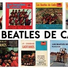 Discos de vinilo: LOS BEATLES DE CADIZ / LOS ESCARABAJOS GADITANOS - LOTE 7 EP'S. Lote 115726963