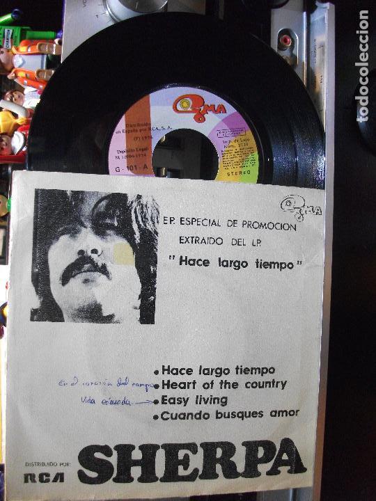 SHERPA EASY LIVING / HACE LARGO TIEM EP SPAIN 1974 PDELUXE (Música - Discos de Vinilo - EPs - Pop - Rock Extranjero de los 70)