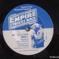 Discos de vinilo: THE EMPIRE STRIKES BACK - SINGLE 1980 - BUEN VISTA RECORDS. Lote 115893303