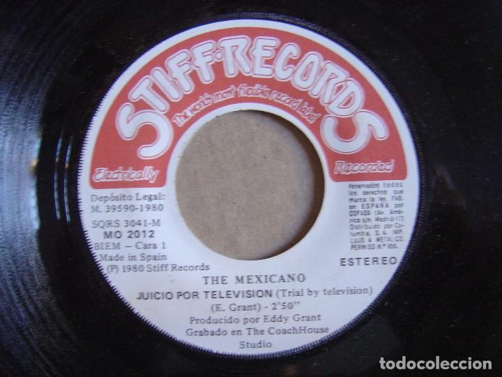 THE MEXICANO - JUICIO POR TELEVISION + CHICO JAMAICANO - SINGLE ESPAÑOL 1980 - STIFF (Música - Discos - Singles Vinilo - Reggae - Ska)