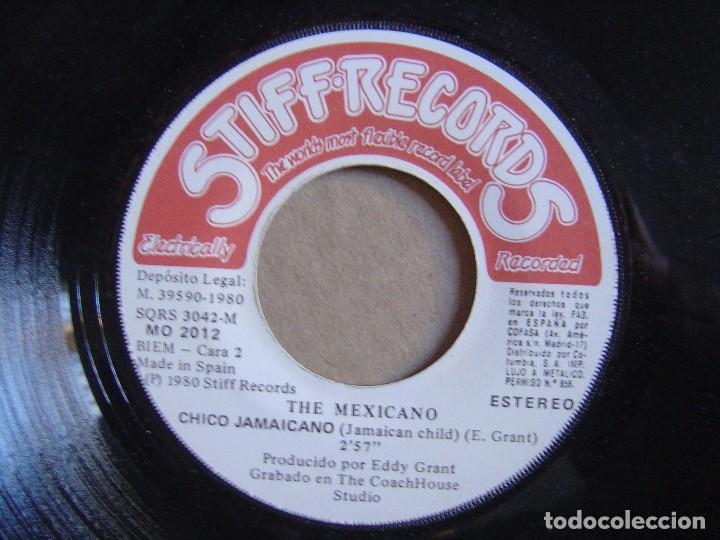 Discos de vinilo: THE MEXICANO - Juicio por television + Chico Jamaicano - SINGLE ESPAÑOL 1980 - STIFF - Foto 2 - 115907127