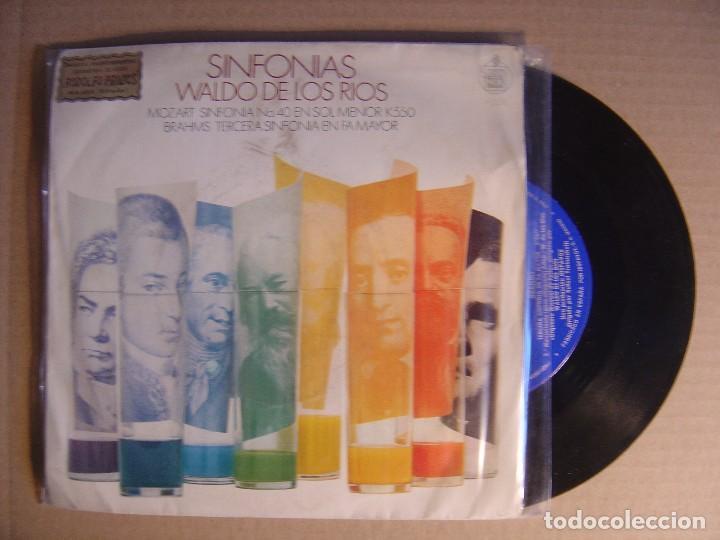 SINFONIAS WALDO DE LOS RIOS - MOZART SINFONIA NO. 40 - SINGLE 1970 - HISPAVOX (Música - Discos - Singles Vinilo - Clásica, Ópera, Zarzuela y Marchas)