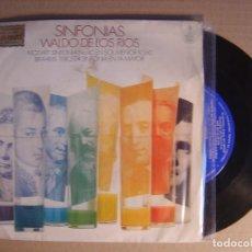 Discos de vinilo: SINFONIAS WALDO DE LOS RIOS - MOZART SINFONIA NO. 40 - SINGLE 1970 - HISPAVOX. Lote 115915135