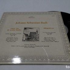 Discos de vinilo: JOHANN SEBASTIAN BACH- JESU DER DU MEINE SEELE -MAGNIFICAT- LP 1978+ DOBLE PORTADA. Lote 115915715
