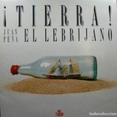 Discos de vinilo: JUAN PEÑA EL LEBRIJANO. ¡TIERRA!. DOBLE LP, SOCIEDAD ESTATAL QUINTO CENTENARIO, 1989.. Lote 115916979