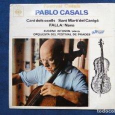 Discos de vinilo: PABLO CASALS - CANT DELS OCELLS. CBS 8601. Lote 204994332