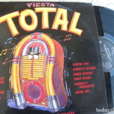 Discos de vinilo: FIESTA TOTAL -DOBLE LP 1988 - LOQUILLO, MECANO, SINIESTRO TOTAL, LOS SECRETOS. Lote 173567057