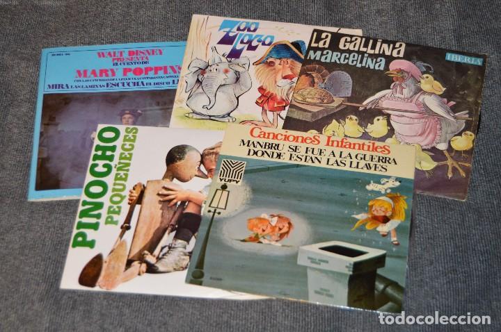ANTIGUO Y VINTAGE - LOTE CON 5 DISCOS INFANTILES - DISCOS SINGLE DE 45 RPM - AÑOS 60 - HAZ OFERTA (Música - Discos - Singles Vinilo - Música Infantil)