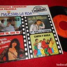 Discos de vinilo: AREVALO+PARCHIS+MARIA JESUS ACORDEON+TERESITA MOJADA EP 1981 SU MAJESTAD LA RISA BSO LLOBELL PROMO. Lote 115946991