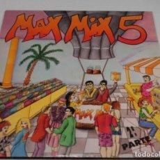 Discos de vinilo: DOBLE LP - MAX MIX 5 - VARIOS - INCLUYE LIBRETO - 1987. Lote 115995167