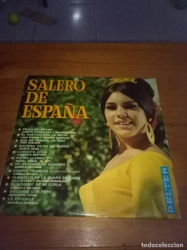 SALERO DE ESPAÑA. PELEA EN BROMA. EL PARTIDO POR LA MITAD. SOLTERA YO NO ME QUEDO. B17V (Música - Discos de Vinilo - EPs - Flamenco, Canción española y Cuplé)