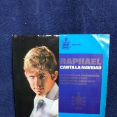 Discos de vinilo: RAPHAEL CANTA LA NAVIDAD DISCO VINILO HISPAVOX 45 RPM 4 TEMAS AÑOS 50 60. Lote 116056735