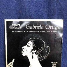Discos de vinilo: GABRIELA ORTEGA RECITADORA EL BLANQUET LA BANDERILLA UNO DOS Y TRES AÑOS 50 60. Lote 116060783