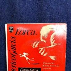 Discos de vinilo: GABRIELA ORTEGA RECITADORA GUITARRA ANTONIO ARENAS FEDERICO GARCIA LORCA. Lote 116061547