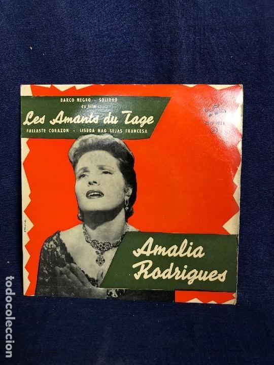AMALIA RODRIGUES LES AMANTS DU TAGE BARCO NEGRO SOLIDAO FALLASTE CORAZON LISBOA NAO SEJAS FRANCESA (Música - Discos de Vinilo - EPs - Otros estilos)