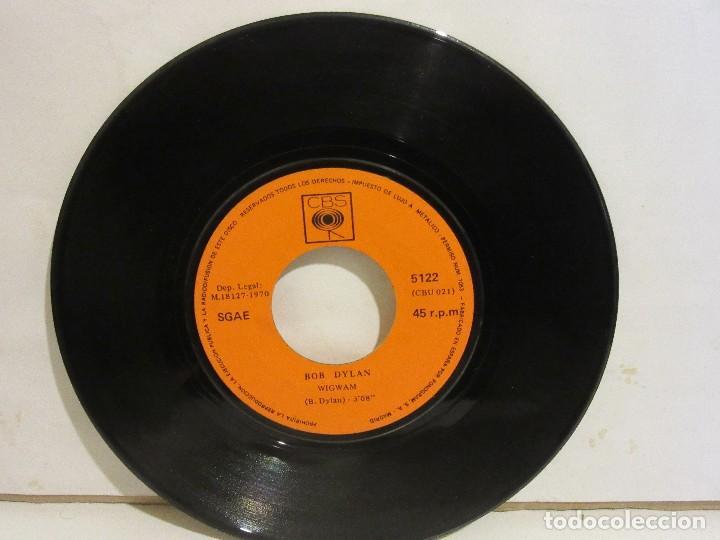 BOB DYLAN - WIGWAM / CALDERA DE COBRE - 1970 - CBS - SPAIN - VG / SIN PORTADA (Música - Discos - Singles Vinilo - Pop - Rock - Extranjero de los 70)