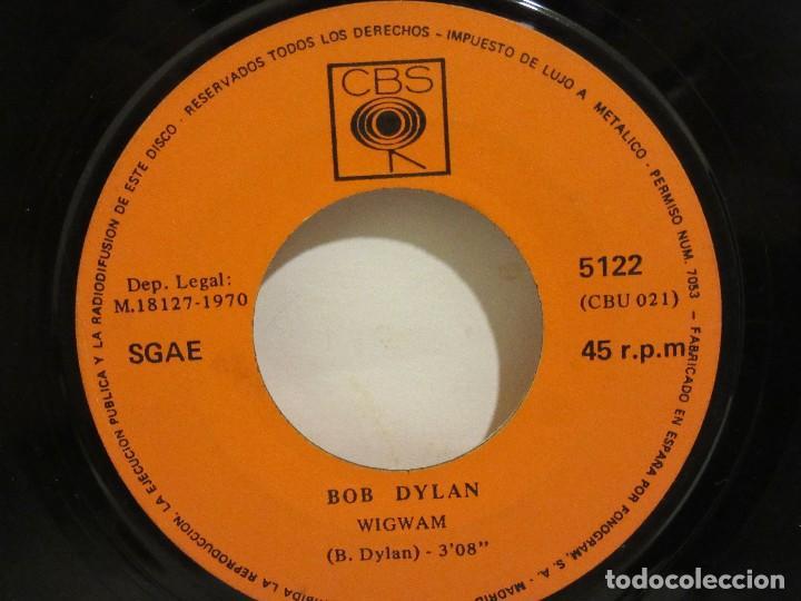 Discos de vinilo: Bob Dylan - Wigwam / Caldera De Cobre - 1970 - CBS - Spain - VG / SIN PORTADA - Foto 2 - 116079095