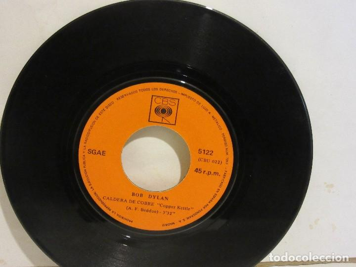 Discos de vinilo: Bob Dylan - Wigwam / Caldera De Cobre - 1970 - CBS - Spain - VG / SIN PORTADA - Foto 3 - 116079095
