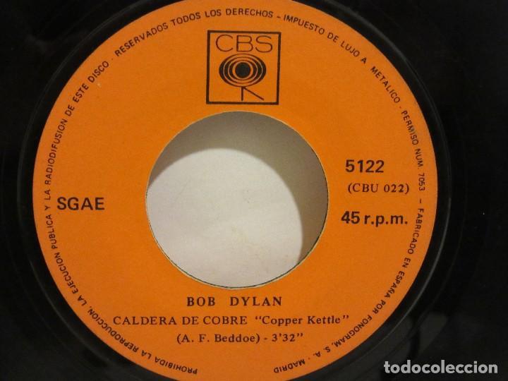 Discos de vinilo: Bob Dylan - Wigwam / Caldera De Cobre - 1970 - CBS - Spain - VG / SIN PORTADA - Foto 4 - 116079095