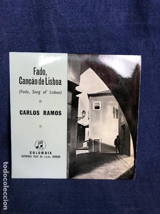 FADO CANCAO DE LISBOA PORTUGAL CARLOS RAMOS COLUMBIA E P 45 R P M (Música - Discos de Vinilo - EPs - Étnicas y Músicas del Mundo)