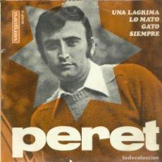 Discos de vinilo: PERET - UNA LÁGRIMA - EP VERGARA 1967. Lote 116079731