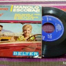 Discos de vinilo: EP - MANOLO ESCOBAR - BANDA SONORA DEL FILM UN BESO EN EL PUERTO - BELTER 1966. Lote 116091435