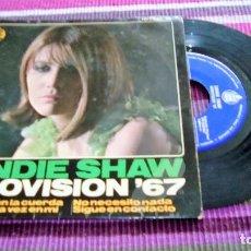 Discos de vinilo: SANDIE SHAW: EUROVISIÓN ´67: MARIONETAS EN LA CUERDA (PUPPET ON A STRING) / PIENSA ALGUNA VEZ EN MÍ.. Lote 116091667
