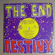 Discos de vinilo: THE END - DESTINY + WEIRDO - SINGLE INGLES 1991 -CON HOJA PROMOCIONAL - MAD MOON. Lote 116093863