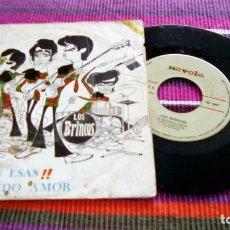 Discos de vinilo: LOS BRINCOS - A MI CON ESAS / EL SEGUNDO AMOR - SINGLE. Lote 116096231