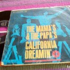Discos de vinilo: THE MAMA'S AND THE PAPA'S CALIFORNIA DREAMIN' MONDAY, MONDAY 1966 RCA VICTOR. Lote 116098087