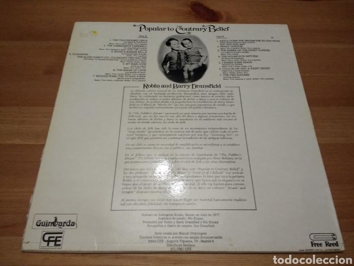 Discos de vinilo: Popular Contrary Belief - Robin snd Barry Dransfield - - Foto 2 - 116099650