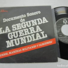 Discos de vinilo: DOCUMENTO SONORO DE LA SEGUNDA GUERRA MUNDIAL - SINGLE BCD1979 - DISCURSOS MARCHAS Y CANCIONES. Lote 116104735