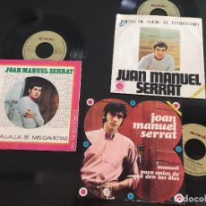 Discos de vinilo: LOTE 3 EPS JOAN MANUEL SERRAT. NOVOLA. EUROVISION. Lote 116107099