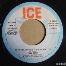 Discos de vinilo: EDDY GRANT - DO YOU FEEL MY LOVE + SYMPHONY FOR MICHAEL - SINGLE ESPAÑOL 1981 - ICE. Lote 116107279