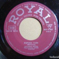 Discos de vinilo: VINICIO - ESPANA CANI + EL RELICARIO - SINGLE ITALIANO - ROYAL. Lote 116115423