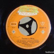 Discos de vinilo: ALFRED HAUSE U.S. ORCHESTER - TANZTEE IN WIEN - SINGLE ALEMAN - POLYDOR. Lote 116116963