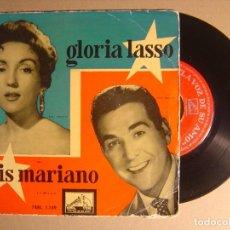 Discos de vinilo: GLORIA LASSO Y LUIS MARIANO - SINGLE ESPAÑOL 1958 - LA VOZ DE SU AMO. Lote 116117503