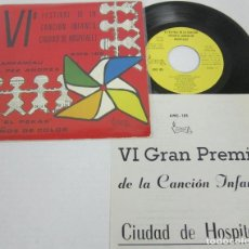 Discos de vinilo: VI FESTIVAL DE LA CANCION INFANTIL DE HOSPITALET / OLAF SABATER NURIA GRACIA - EP - VICTORIA 1971. Lote 116146727