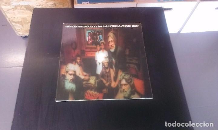 LP CANNED HEAT FIGURAS HISTÓRICAS Y CABEZAS ANTIGUAS BLUES ROCK 70'S (Música - Discos - LP Vinilo - Pop - Rock - Extranjero de los 70)