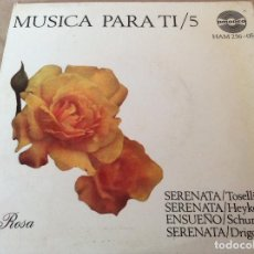 Discos de vinilo: MUSICA PARA TI 5. TOSELLI, HEYKENS, SCHUMANN, DRIGO.. Lote 116169415