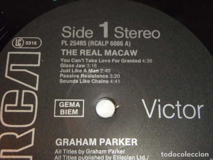 Discos de vinilo: GRAHAM PARKER ( THE REAL MACAW ) 1983 - GERMANY LP33 RCA RECORDS - Foto 4 - 116174235