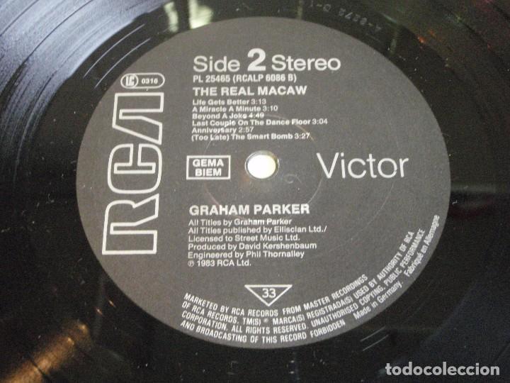 Discos de vinilo: GRAHAM PARKER ( THE REAL MACAW ) 1983 - GERMANY LP33 RCA RECORDS - Foto 6 - 116174235