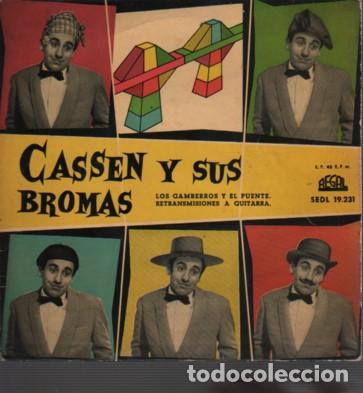 DISCO DE CASEN Y SUS BROMAS - L GAMBERROS Y EL PUENTE DE REGAL SEDL 19231 - 1959 (Música - Discos de Vinilo - Maxi Singles - Solistas Españoles de los 50 y 60)