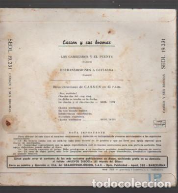 Discos de vinilo: disco de casen y sus bromas - l gamberros y el puente de regal sedl 19231 - 1959 - Foto 2 - 116175987