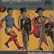 Discos de vinilo: DISCO DE UNA JURGA CON CASEN CHISTES TELEFONICO DE REGAL SEDL 19232 - 1959 DISCO AZUL FUTBOL TOROS. Lote 116176123